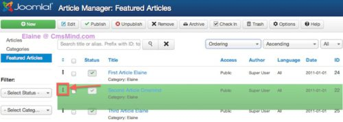 joomla featured articles module