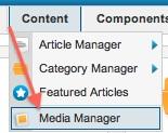 Joomla 2.5.8 Content - Media Manager