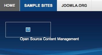 Joomla 2.5.8 - After deleting Joomla 2.5.8 joomla black gif file broken image