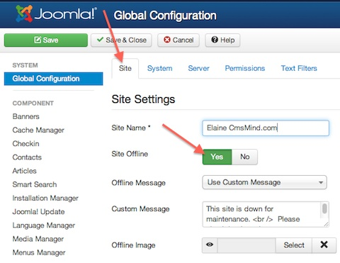 joomla 3 0 How to make site offline 1 How to put Joomla 3.0 site offline