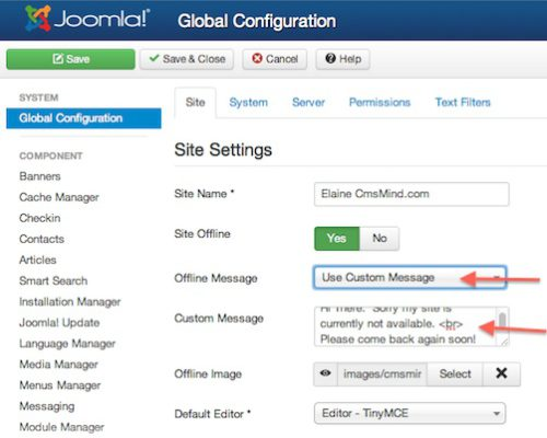 joomla 3 0 How to make site offline 3 How to put Joomla 3.0 site offline