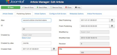 Joomla 3.0 Cannot Reset Article Hit Counter in Article Manager