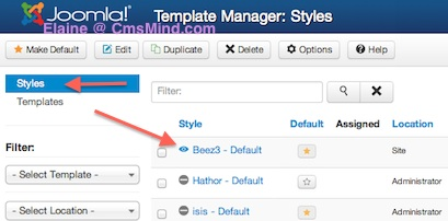 Joomla 3.0 - Edit Default Site Template