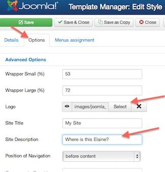Joomla 3.0 Change Site Logo and Site Name