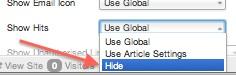 Joomla 3 - Edit menu item menu manager hide article hits