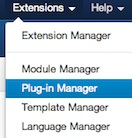 Joomla 3.0 Extensions Plugin Manager