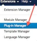 Joomla 3.0 Plugin Manager