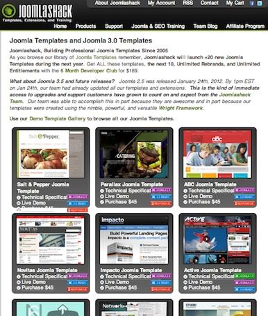 Joomla 3.0 Templates from JoomlaShack