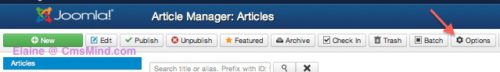 joomla 3 where are global settings for articles article manager options 2 Joomla 3   How to Change the Article Global Settings