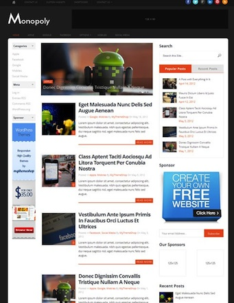 responsive blog reeponsive magazine wordpress theme monopoly Cost to Create a Responsive Blog News Website with Monopoly