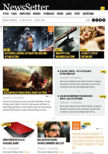 Responsive Newsletter / Magazine WordPress Theme