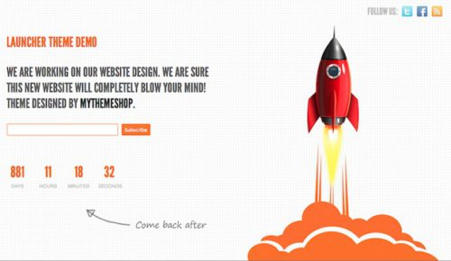 free launch soon page wordpress theme launch Cost to Make a Launch Soon Page with Free Wordpress Theme   Launcher