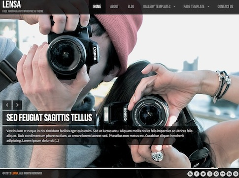 free responsive photography template lensa 2 Cost to Create a Photography Website with Free Photography Wordpress Theme   Lensa