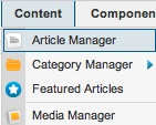 joomla 2 5 8 article manager 2 Joomla 3.0 Tutorial   How to Link an Article to Joomla Menu