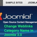 Thumbnail image for How to Change Joomla 3.0 Weblinks Category Name