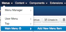 joomla 3 create new menu item 1 Joomla 2.5   How to Assign Articles to Multiple Categories