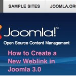 Thumbnail image for Joomla 3.0 &#8211; How to Create a New Weblink