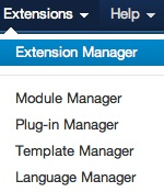 Joomla 3.0 - Extensions Manager