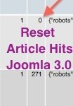 Thumbnail image for How to Reset Article Hits in Joomla 3.0 using phpMyAdmin