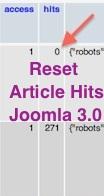 Joomla 3.0 - Reset article hits title