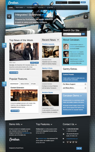 joomla 3 template news magazine cerulean Cost to Create News Website with Joomla 3.0 Template   Cerulean