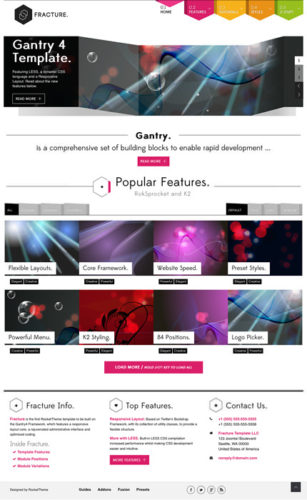 joomla 3 template photography portfolio website fracture Cost to Create Photography Website with Joomla 3.0 Template   Fracture