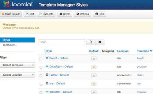 Joomla 3.0 Tutorial - Activate new joomla template success