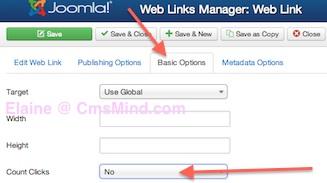 joomla 3 weblinks count clicks no How to turn off the Joomla 3.0 Weblinks Hits Counter