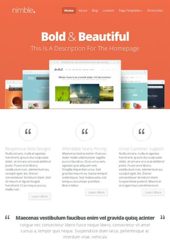 responsive business wordpress theme nimble Cost to Build a Business Website with Wordpress Theme   Nimble