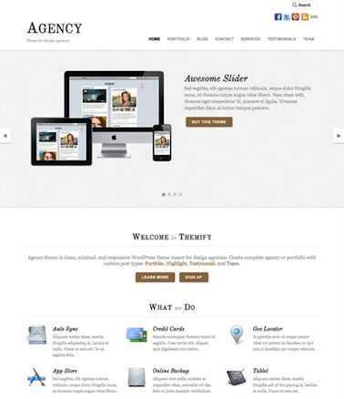 responsive design portfolio agency business template agency Cost to Build a Business Website with WordPress Theme   Agency