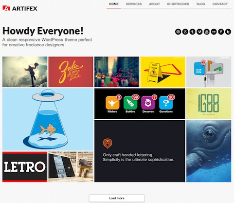 Fluid Portfolio WordPress Theme - Artifex