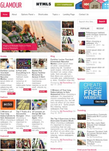 responsive gossip magazine template wordpress theme glamour Cost to Create a Website Like PerezHilton with Wordpress   Glamour