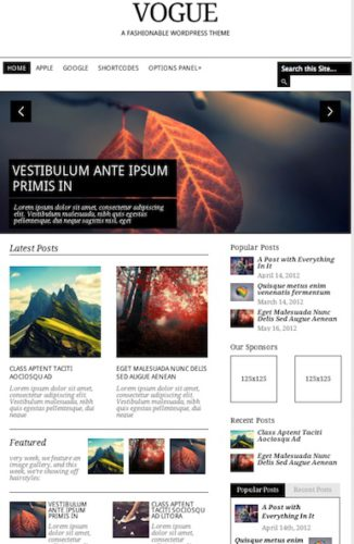 responsive magazine template wordpress theme vogue Cost to Make a Magazine Website with Wordpress Theme Vogue