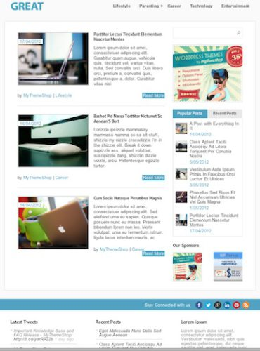 free responsive blog wordpress theme
