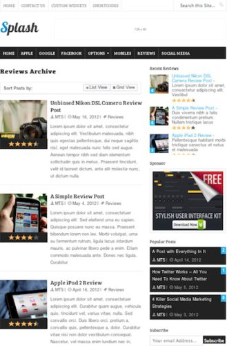 responsive ratings reviews wordpress theme splash Cost to Create a Website Like Cnet.com with Wordpress   Splash
