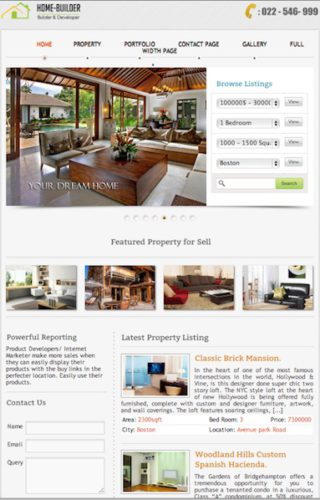 responsive real estate template for property managers wordpress home builder Cost to Create a Real Estate Website with Wordpress   Home Builder