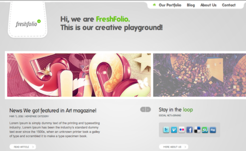 unique portfolio photography wordpress theme freshfolio Create a Fresh Looking Portfolio Website with FreshFolio