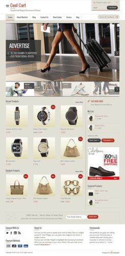 wordpress ecommerce online shopping template cool cart Cost to Create Online Store with Wordpress   Cool Cart