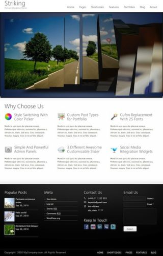 Amazing Business Portfolio Template Wordpress Theme Striking 2 Cost to Make a Professional Business Portfolio Website with Wordpress   Striking