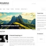 Responsive Minimalistic Blog Template Wordpress Theme Simpleton 2 150x150 Website Clones and Templates