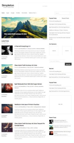 Responsive Minimalistic Blog Template Wordpress Theme Simpleton Cost to Make a Minimalistic Blog Website with Wordpress   Simpleton