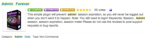 Joomla 3.0 - Admin Forever prevent admin auto logout