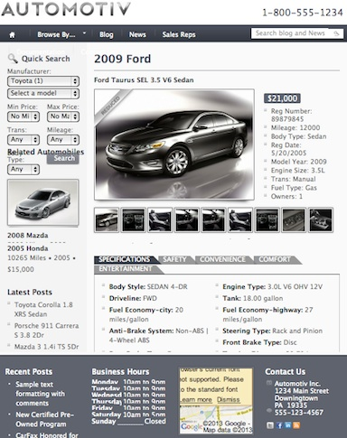 Car Dealership Template - Automotiv Car Details
