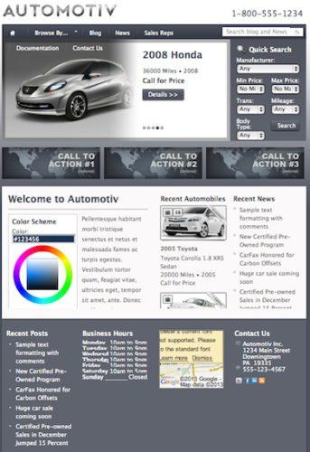 auto car dealership wordpress theme automotiv Best Classified Ads Themes