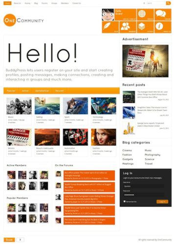 social networking sites free templates download - create a website like facebook with wordpress onecommunity