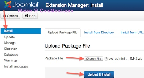 Joomla 3.0 Install Plugin in Extension Manager