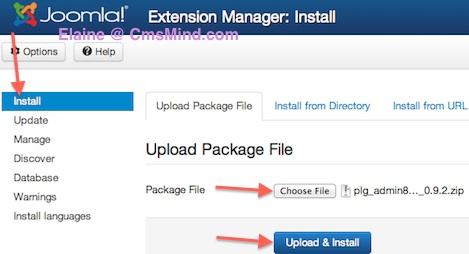 cmsmind joomla 3 install plugin extension manager 1 Joomla 3.0   How to Install a Plugin in Joomla