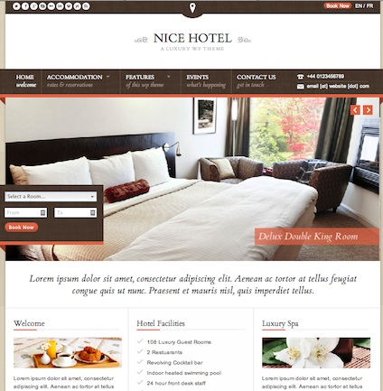 hotel vacation rental motel wordpress theme nice hotel Cost to Build a Luxury Hotel Booking Website with Wordpress   Nice Hotel