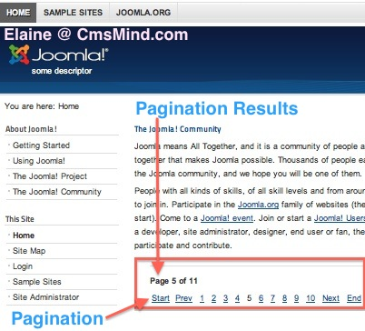 joomla 2 5 8 tutorial add next previous pagination bottom of category blog 3 Joomla 2.5.8 Tutorial   How to Add Pagination to Category Blog
