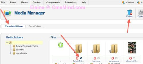 joomla 2 5 8 tutorial how to delete images folder in media manager 1 Joomla 2.5 Tutorial   How to Delete Folder in Media Manager
